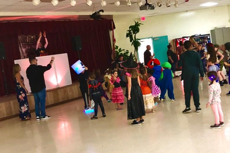 SGA volunteers at Eagle Ridge Elementary Halloween celebration