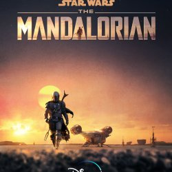 "Official poster for Disney's ""The Mandalorian""."