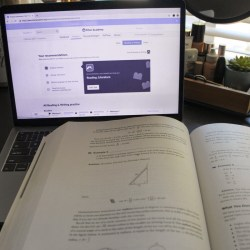 Students can practice for the SAT by using programs like Khan Academy. Photo by Brianna Jesionowski