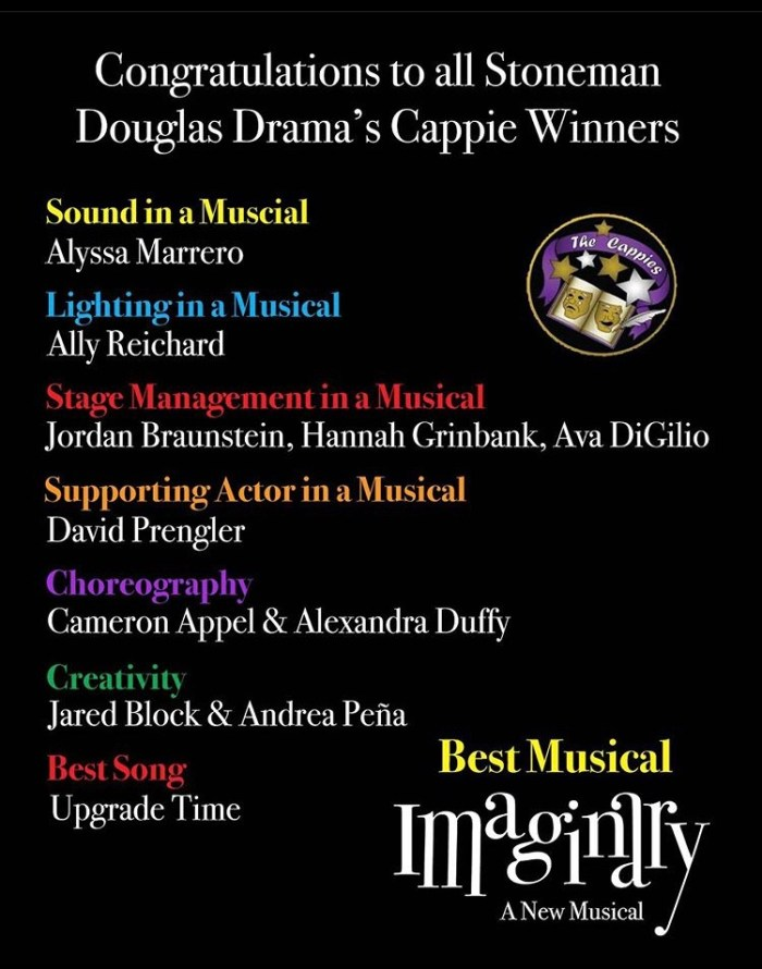 Many drama students posted about their wins on social media platforms such as Instagram and Snapchat.