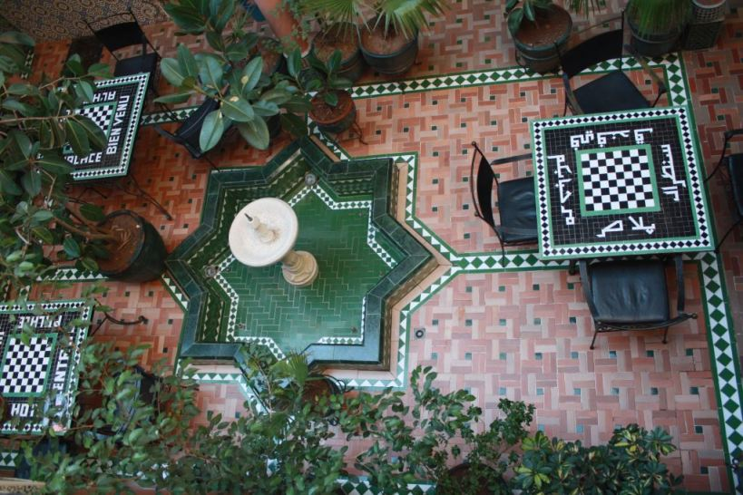 Marrakech hotel patio