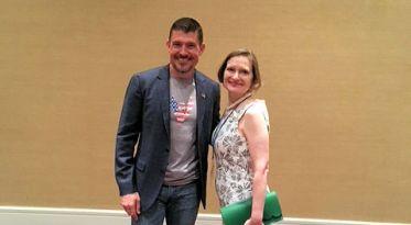 Kris Paronto - Benghazi Hero, and Anne Schlafly Cori at the @EagleForum 38th Annual Naples, FL Luncheon