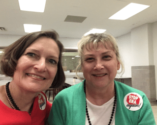 Anne Schlafly Cori and Lori Weech lobbying at the State Capitol in Springfield, Illinois to #StopERA