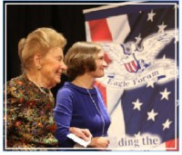 Phyllis Schlafly and Anne Schlafly Cori
