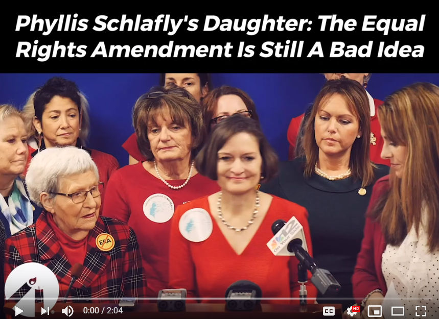 Phyllis Schlafly's Daughter:The Equal Rights Amendment Is Still A Bad Idea
