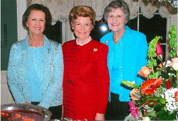 "This photo was taken in 2006 at our ""Evening With Phyllis"". Pictured from left to right are: Mrs. Joyce Ratliff (hostess), Phyllis Schlafly and Eunie Smith."