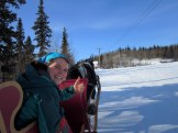 Taking a ride in a horse-drawn sleigh. Yes, jingle bells were involved