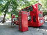 Two of the most popular things in London, but you can't take a picture of them together or the phone box disappears!