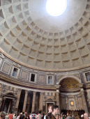 The Pantheon. Apparently during some ceremonies, they pour rose petals through the hole at the top