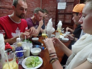 Our first dinner in Hanoi