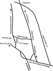 Map to Eaglemount Winery
