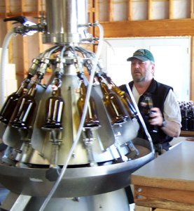 Bottling our cider
