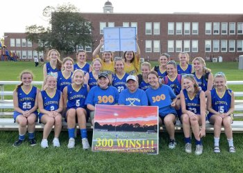 Cazenovia field hockey head coach Lorraine Scheftic earned her 300th career victory Friday afternoon when the Lakers defeated Cato-Meridian 7-0. Scheftic's teams have won 10 sectional championships along with the 2010 and 2011 state Class C titles.