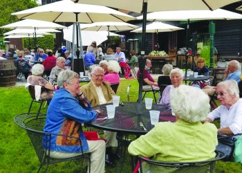 The Cazenovia Area Senior Association held a luncheon at The Brae Loch Inn on Sept. 9. The event drew around 60 seniors and featured a history presentation by Val Barr, who owns the inn with her husband, Jimmy. (Submitted)
