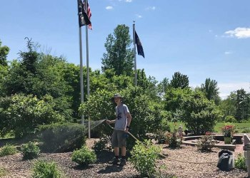 For his Eagle Scout project, 16-year-old Gianlucca VanCour of Troop 71 overhauled the memorial garden at VFW Post 153 in Baldwinsville. (Submitted photo)