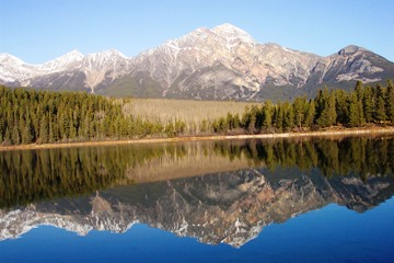 Pyramid Lake, Jasper National Park, Alberta Canada