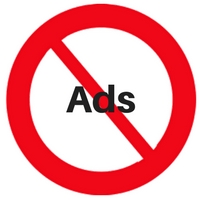 "Barred circle ""no ads"""