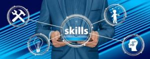 Businessman offering training in skills