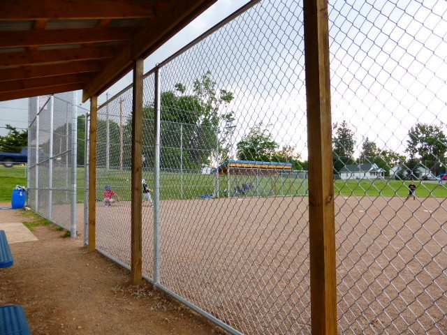 built shelters for the home and anyway benches for the Bath township little league fields and improved fencing for greater safety.