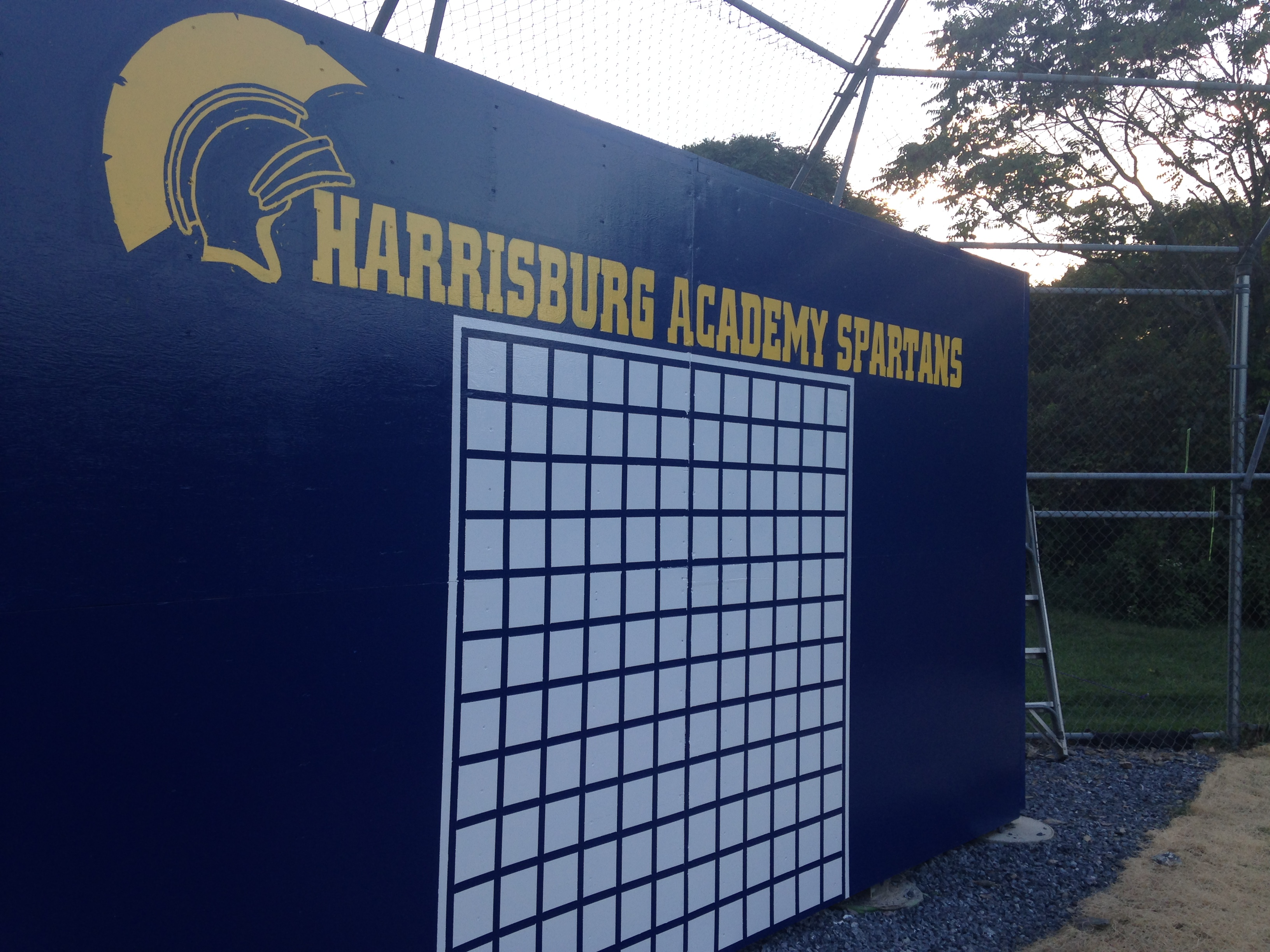 8'x 16' lacrosse practice wall for Harrisburg Academy team