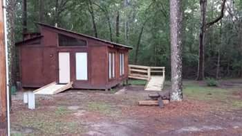 Built two wheelchair accessible ramps at a state park that had no wheelchair accessibility on any of their cabins