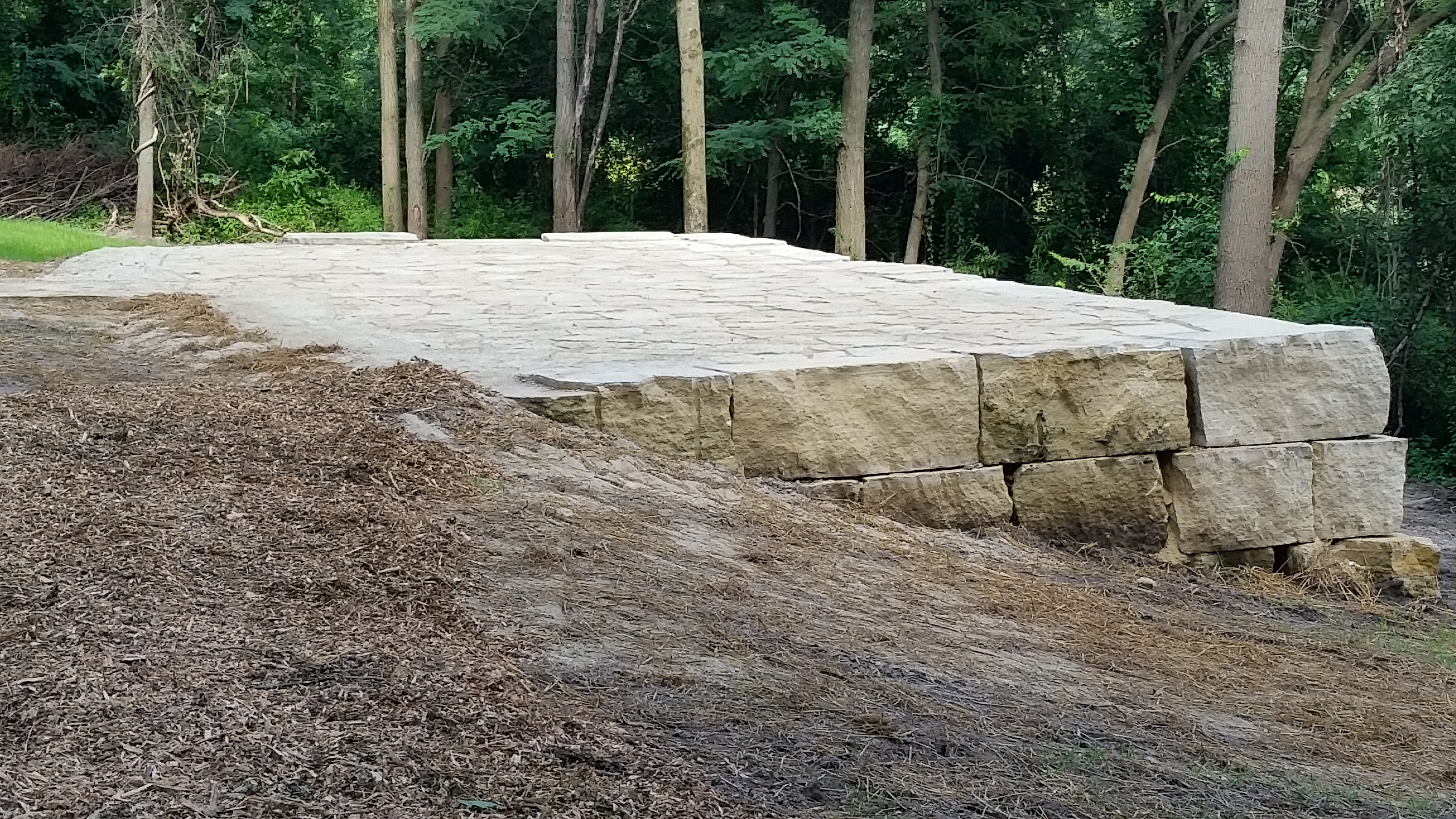 Mason Gritton led a project at Indian Creek Nature Center. He created an outdoor amphitheatre by leveling the ground, organizing/setting the flagstone and filling in the cracks. The project was completed in one weekend so the site could be available for the grand opening of the new facility. The project required 113 hours. http://www.bsatroop766.org/eagleinfo.html#MasonGritton