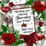 Happy Thursday roses and blessing 2016