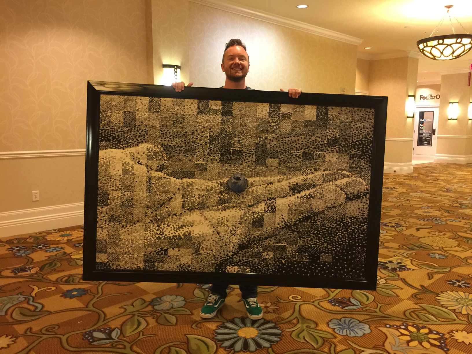 Phil with a custom image art