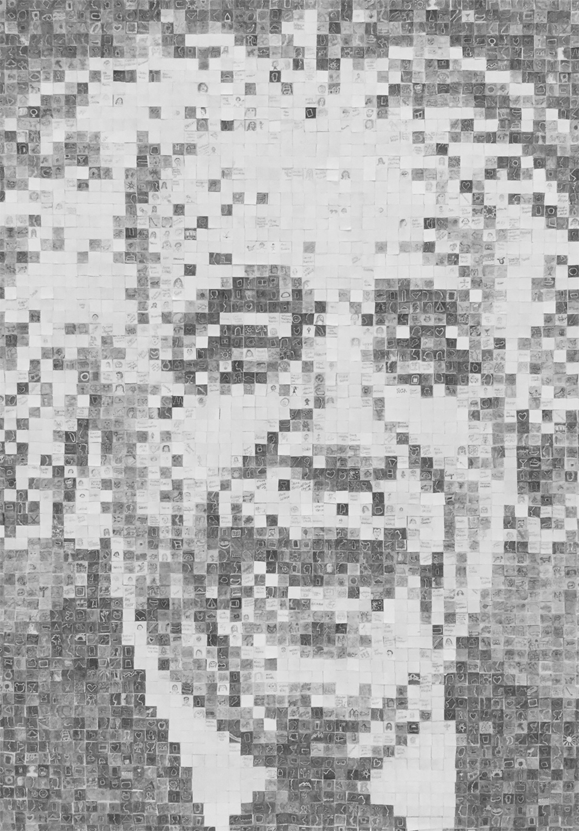 albert einstein mosaic art