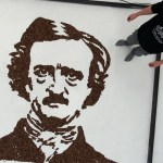 Phil Hansen Creates Portrait of Edgar Allan Poe Out of What?!