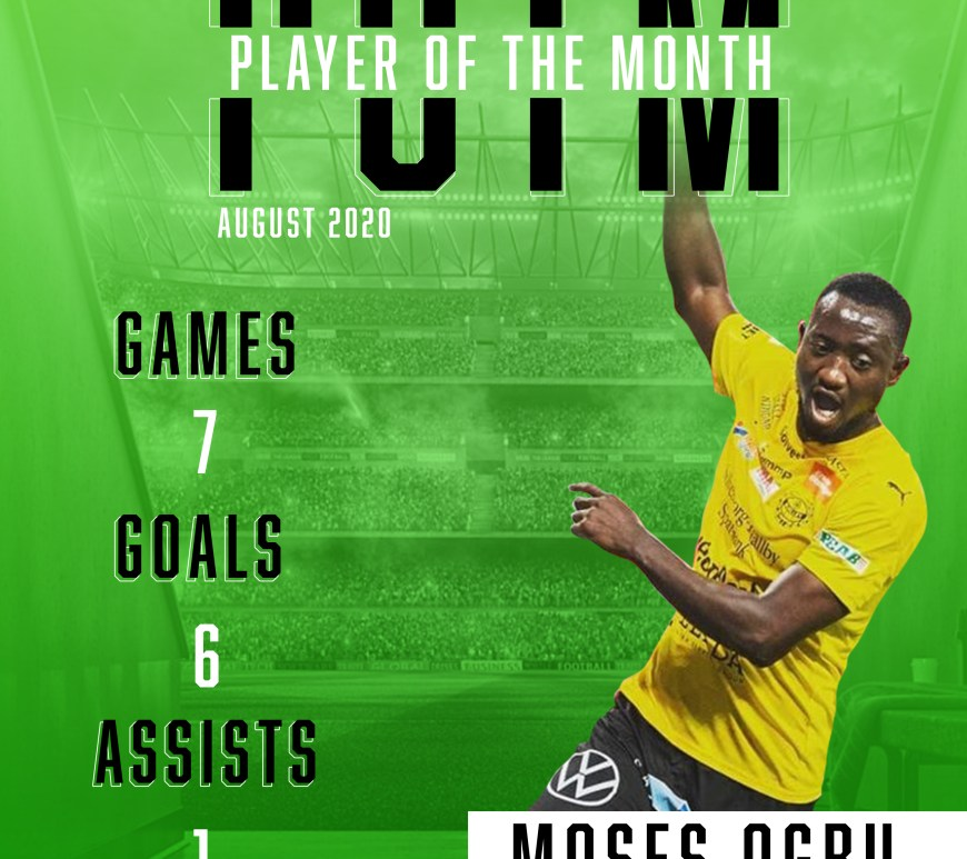 Moses Ogbu wins Nigerian Player of the Month Award