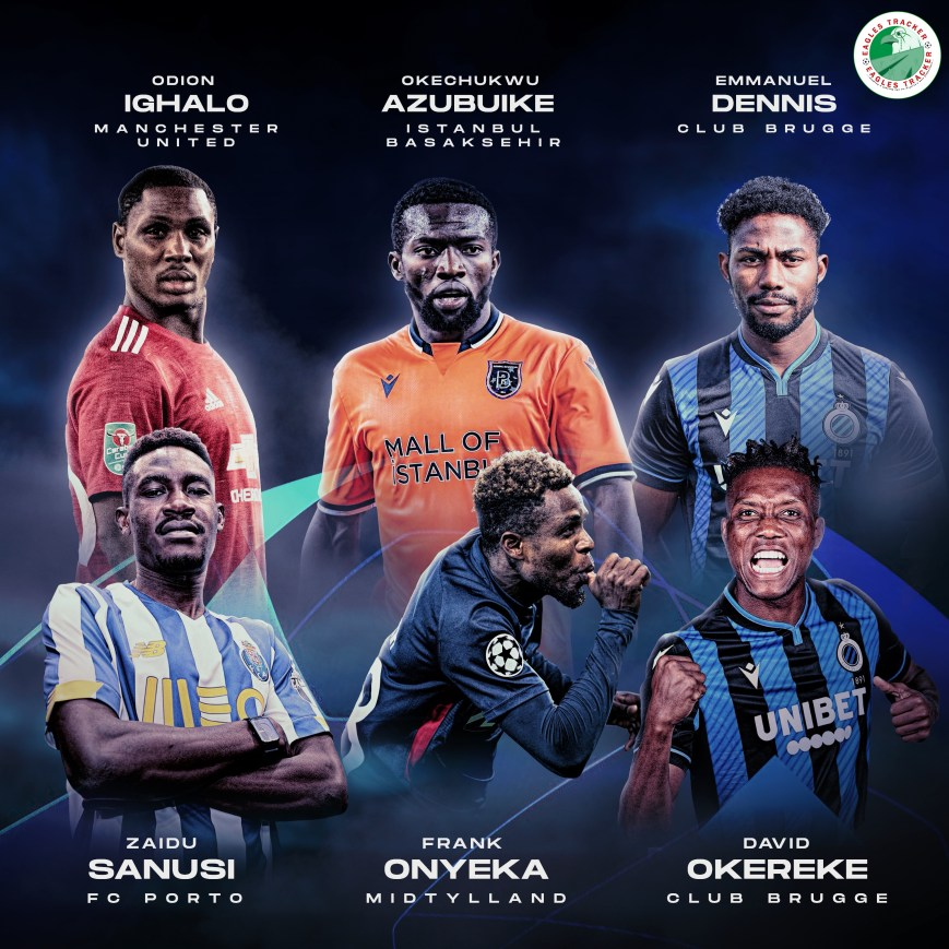 Nigerians in the 2020/2021 UEFA Champions League