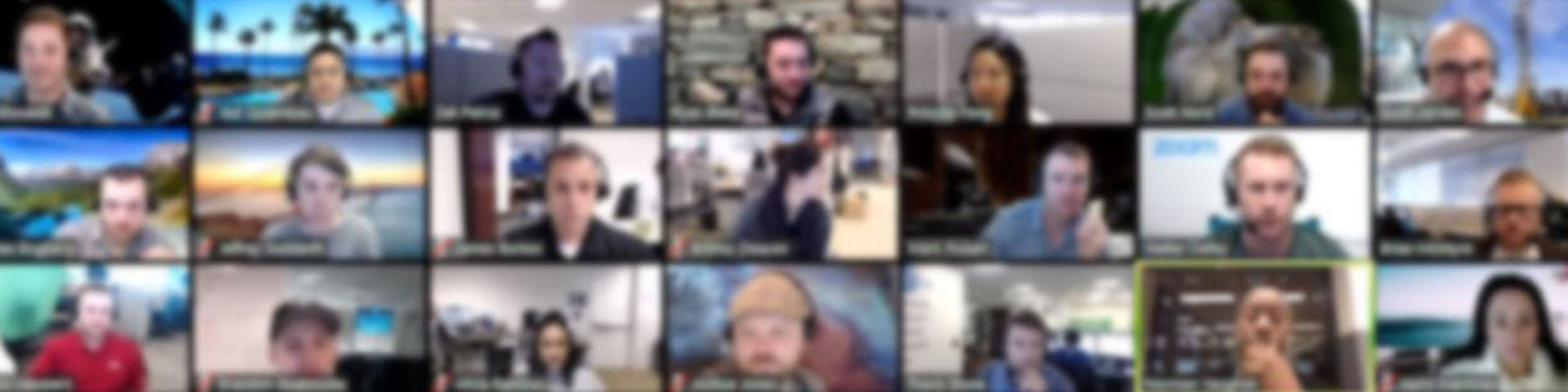 Sample screenshot of participants in a Zoom meeting