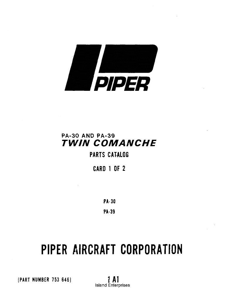 Cessna 172 Series Parts Catalog 1975-1986
