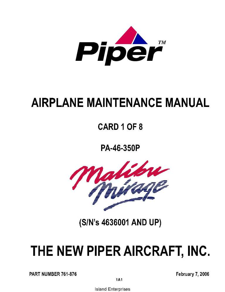 piper mirage maintenance manual open source user manual u2022 rh dramatic varieties com Piper Single-Engine Turboprop Piper Meridian Useful Load