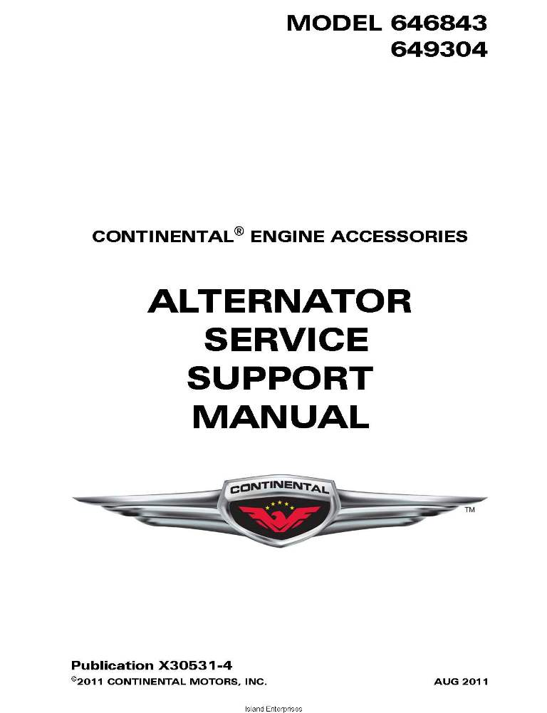 Kelly aerospace alternator overhaul Manual on