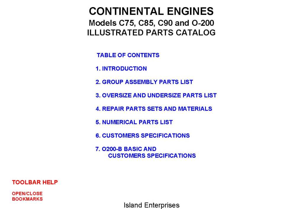 Continental Aircraft Engines O 200 Overhaul