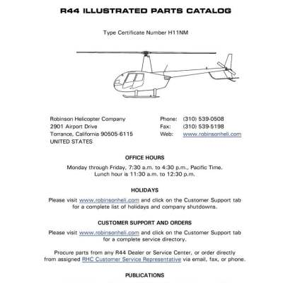 R44 maint. Manual robinson helicopter company.