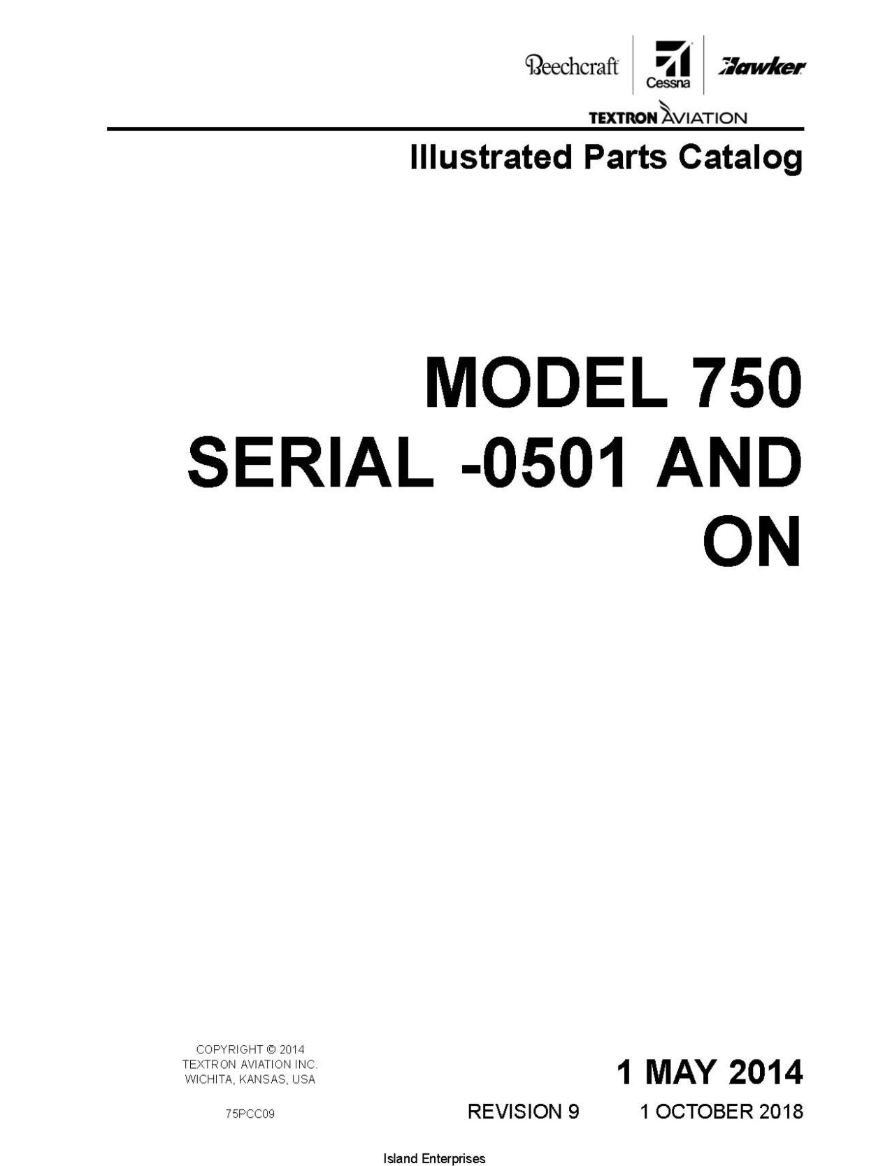 Cessna Model 750 Illustrated Parts Catalog 75pcc09