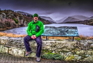 Yours truly sat in front of Llyn Padarn. I saturated my green jacket purposefully; well, it's my favourite colour!