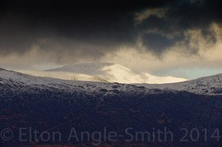 Carnedd Llewellyn - 1064 metres, catches some wonderful light as the Miner's Track snakes up
