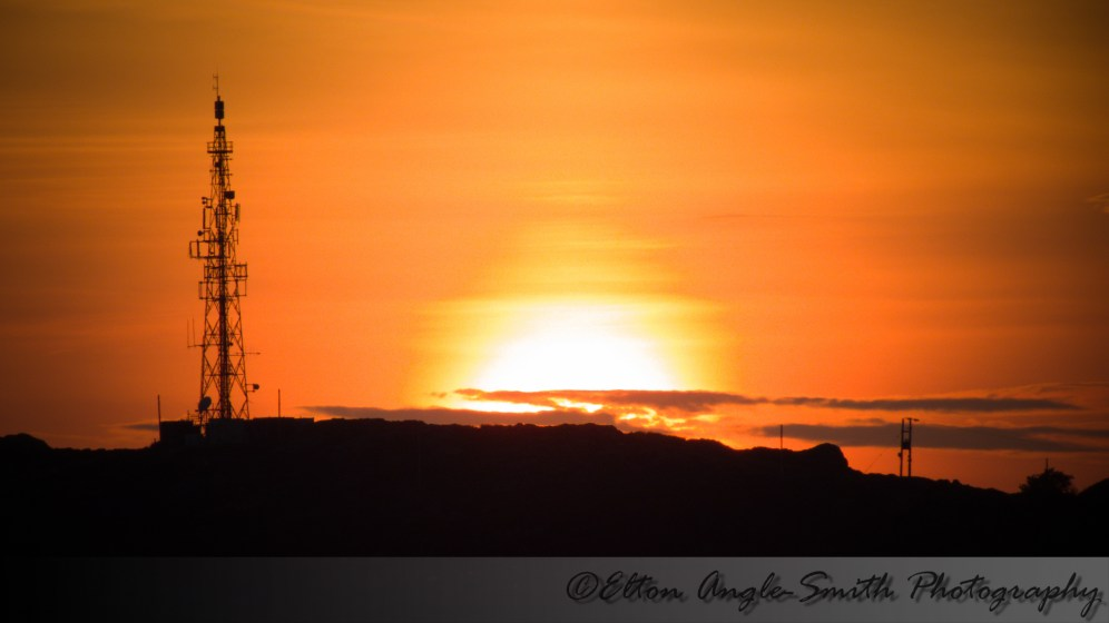 Final sunset shot towards Pen y Bigil and the TV mast.