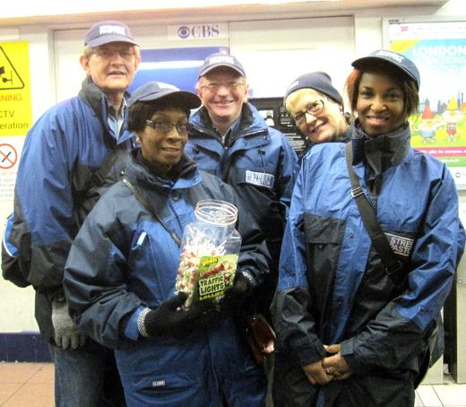 Ealing Street Pastors Team with Lolipops