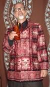 Barkcloth Jacket model: J. Berry.