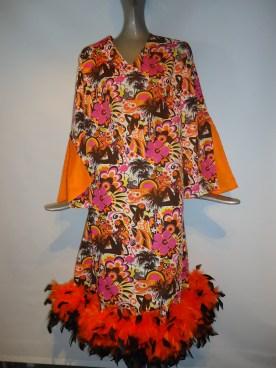 Retro feather boa dress