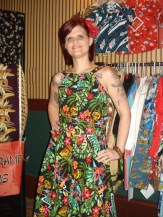 Mod Hawaiian sundress model: Katie