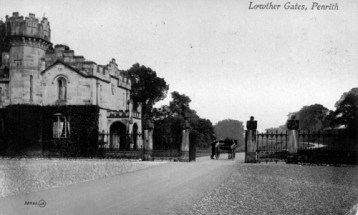 Postcard showing Lowther Gate House