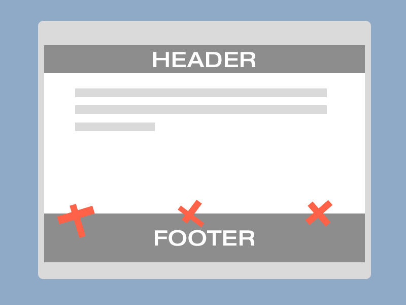 Sticky footer revisited