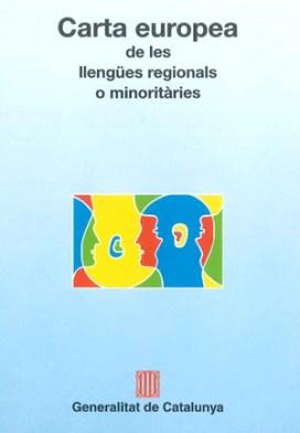 Portada de la Carta europea de les llengües regionals o minoritàries