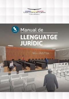 Portada Manual de llenguatge jurídic